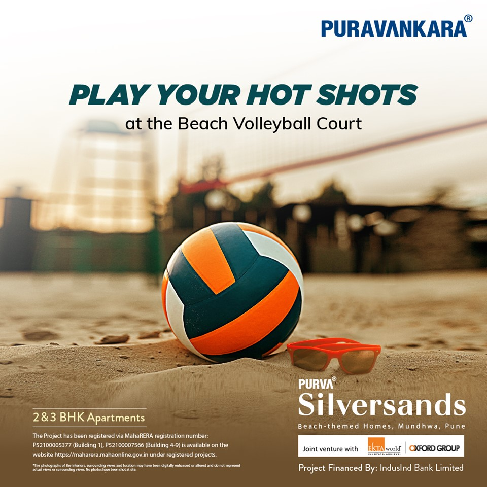 Purva Silver Sands offer Volleyball Court in Pune