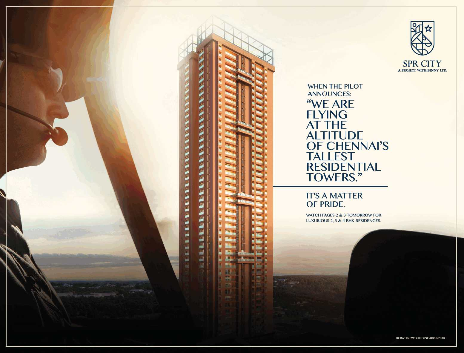 Reside in Chennai s tallest residentail tower at SPR City Highliving District