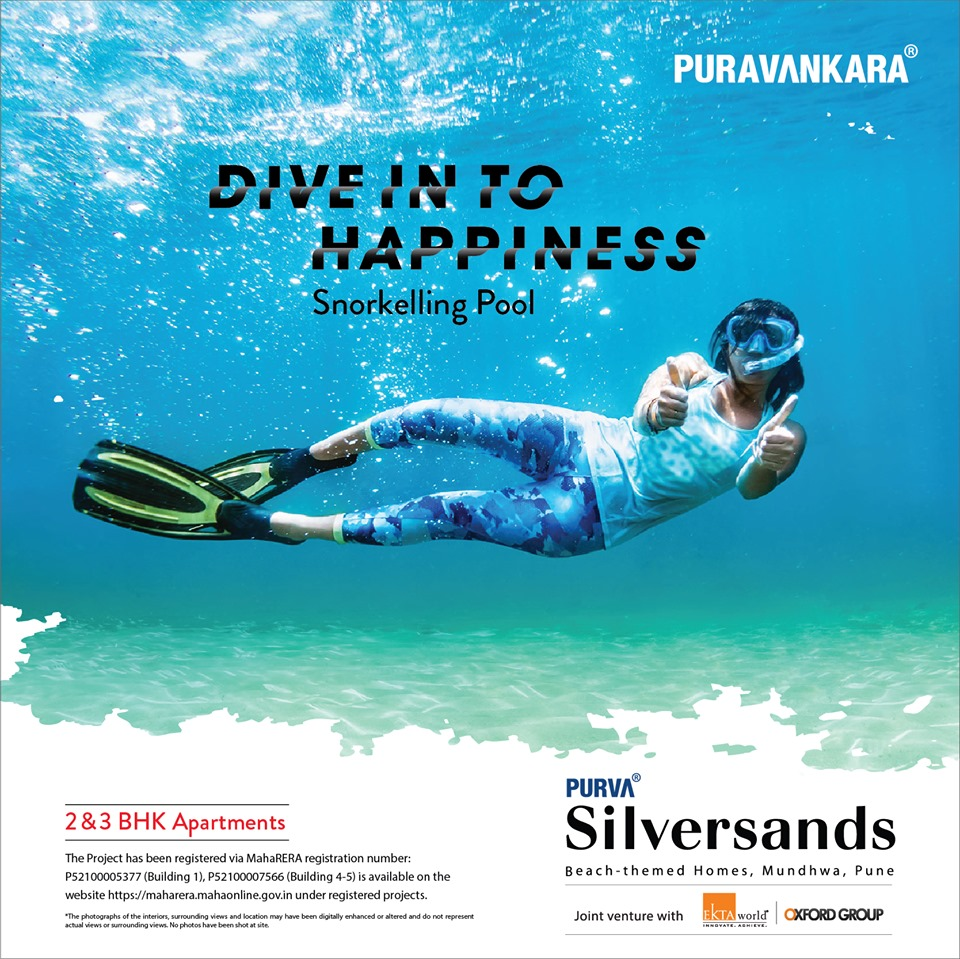 Snorkeling pool at Purva Silversands Pune