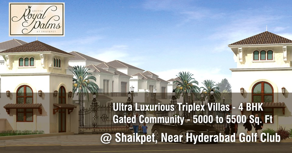 When space is luxury Sri Aditya Royal Palms is the place to