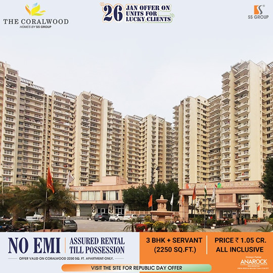 No EMI assured rental till possession at SS The Coralwood in Sector 84 Gurgaon