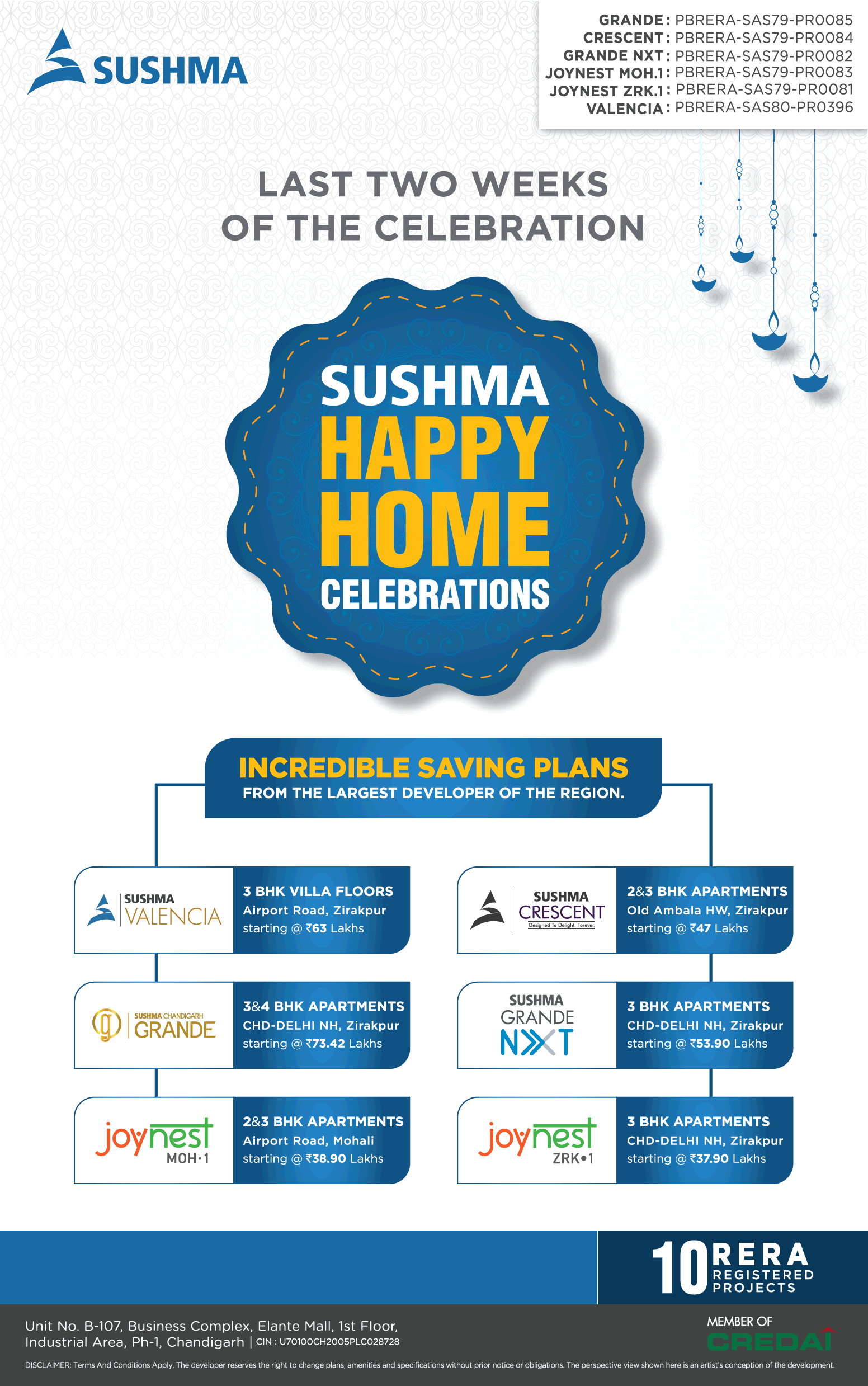 Last two weeks of the celebration at Sushma Buildtech Chandigarh