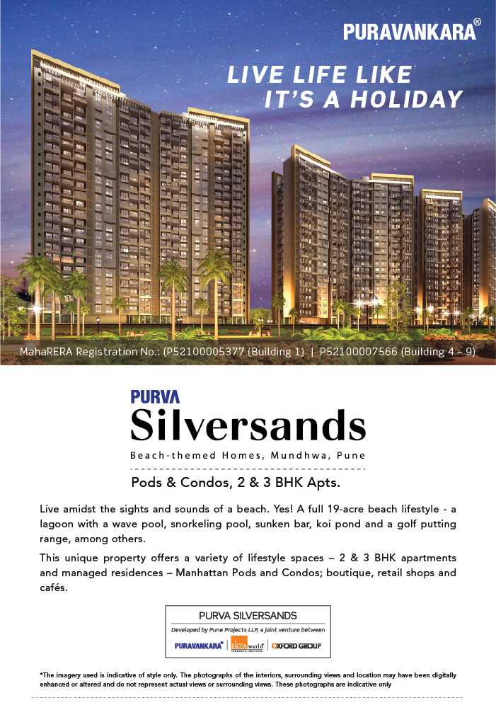 Live life like it s a holiday at Purva Silver Sands in Pune