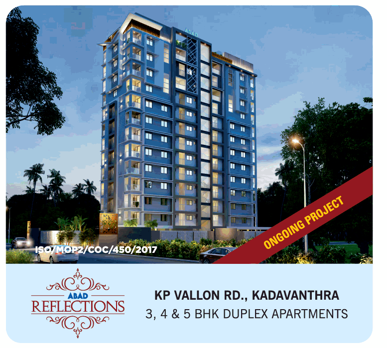 Book 3 4 5 BHK duplex apartments at ABAD Reflections in Kadavanthra Kochi