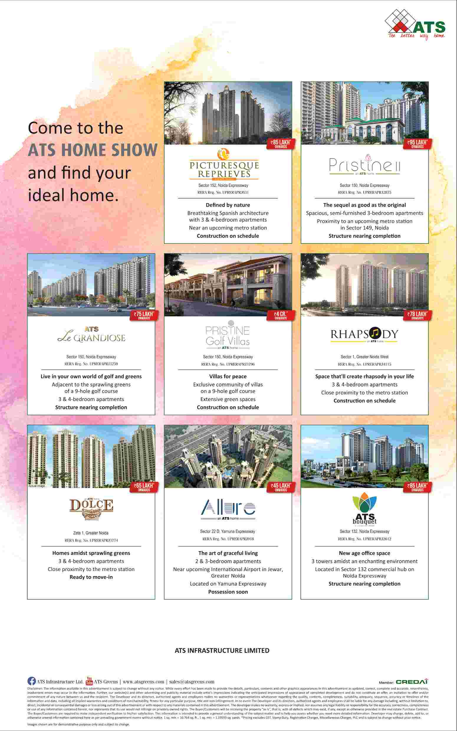 Come to the ATS Home Show and find your ideal home - Zricks.com