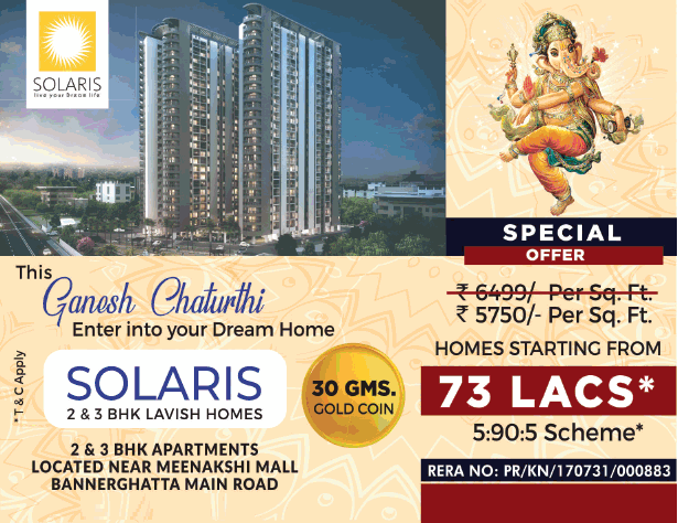 Book 2 3 bhk lavish homes starting from 73 lacs at Disha Loharuka Solaris Bangalore