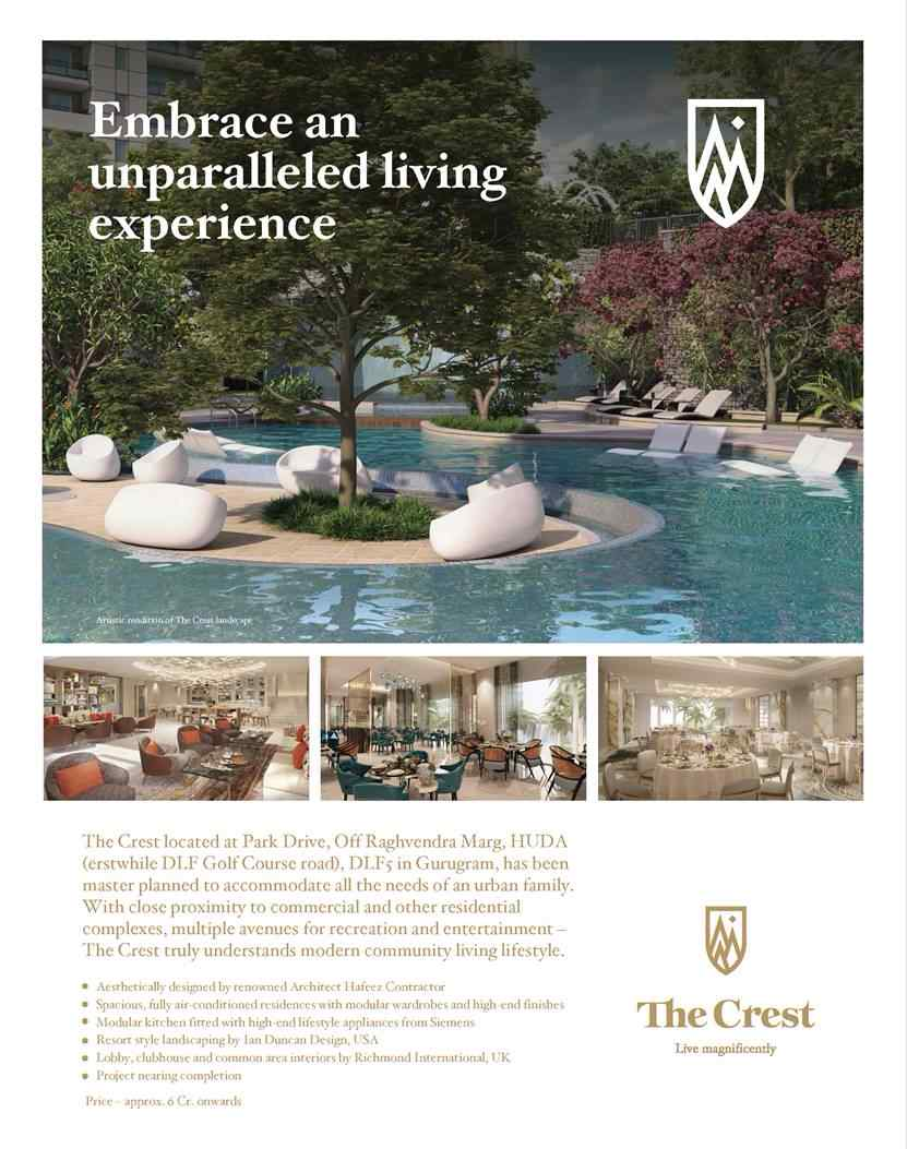 Embrace an unparalleled living experience at DLF The Crest ...