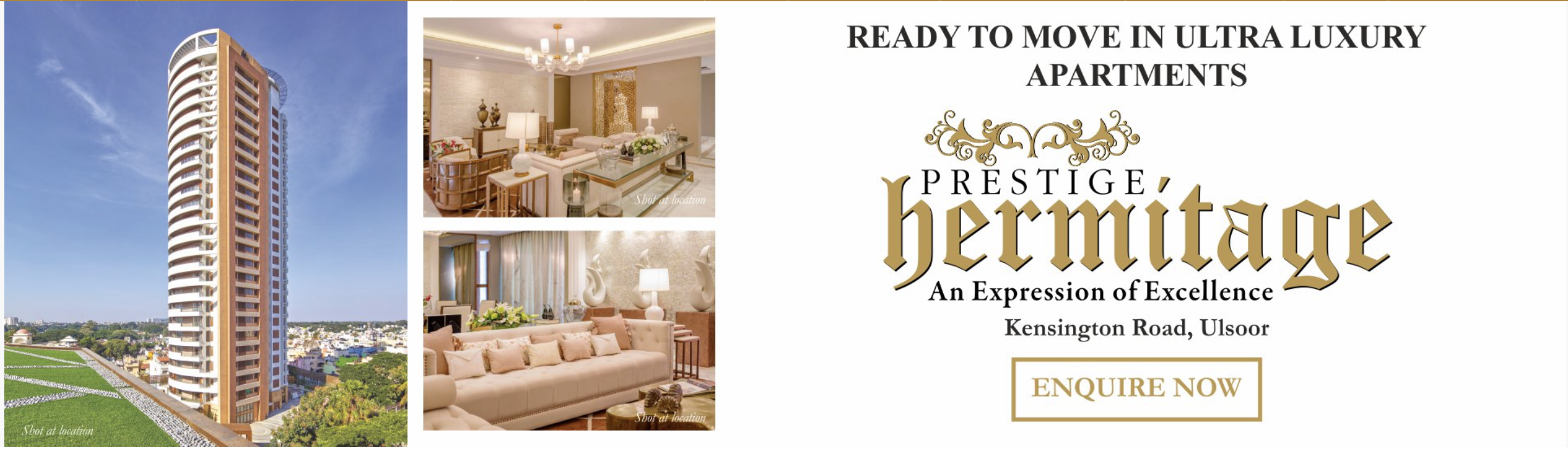Ready To Move In Ultra Luxury Apartments At Prestige Hermitage Bangalore