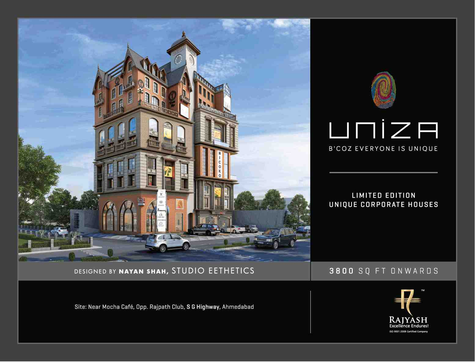 book limited edition unique corporate houses at rajyash uniza in
