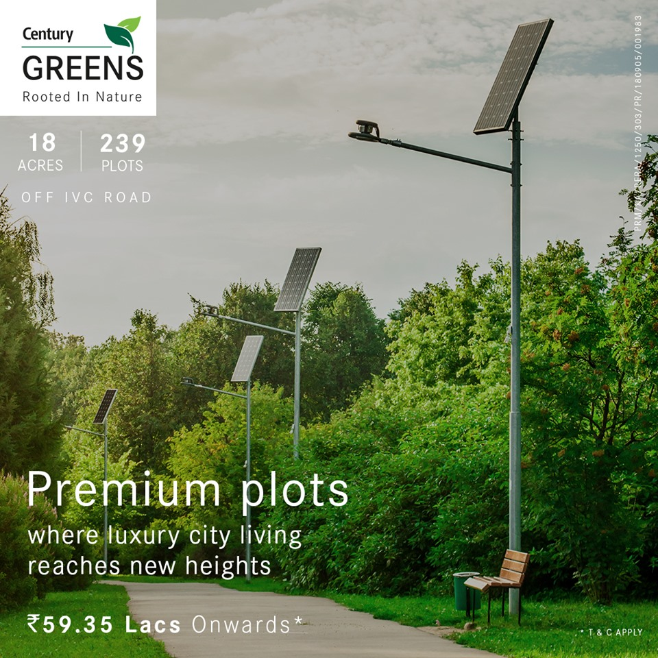Premium plots where luxury city living reaches new heights at Century Greens Bangalore