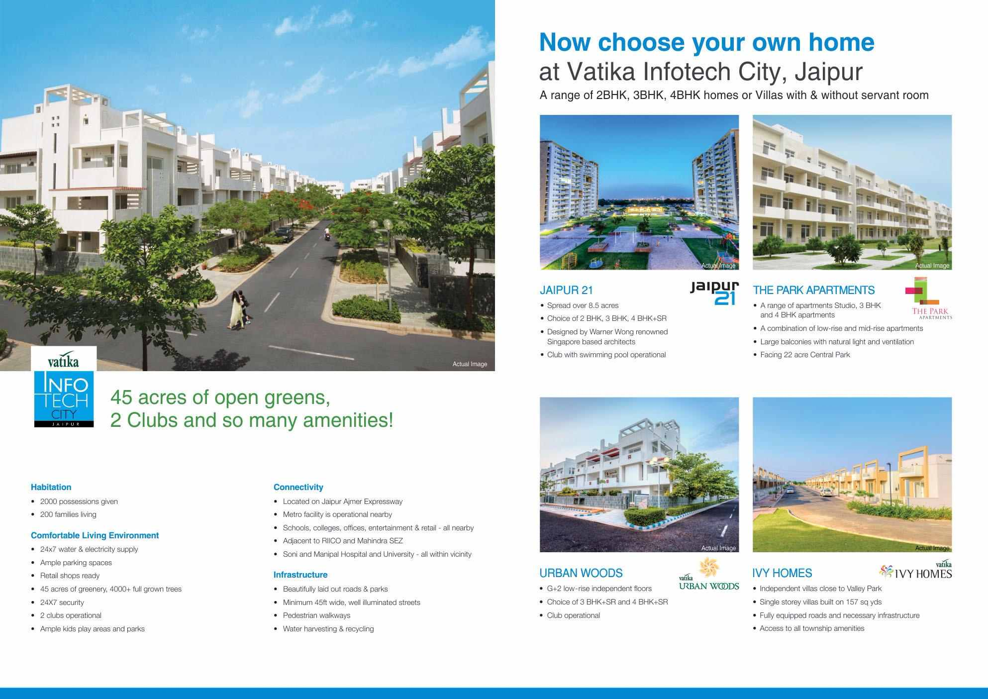 Now Choose Your Own Home At Vatika Infotech City In Jaipur