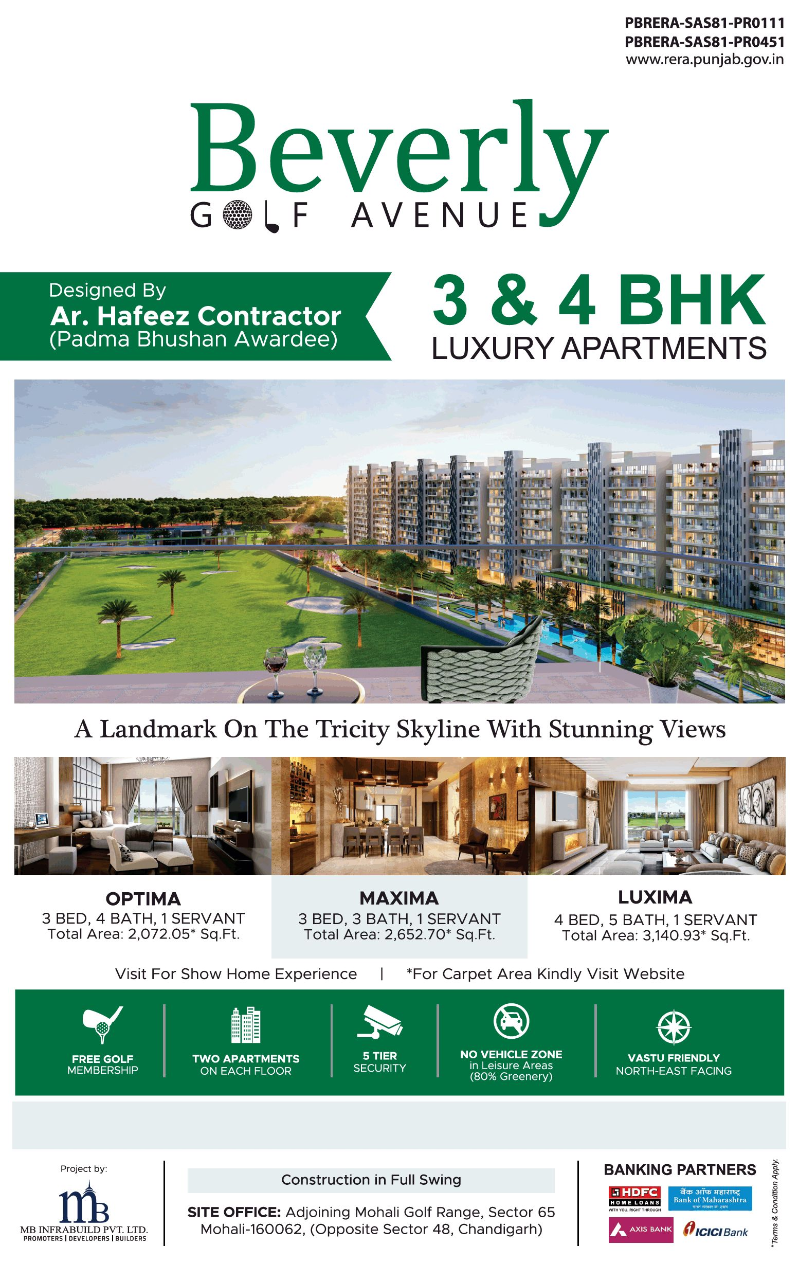 A landmark on the tricity skyline with stunning views at MB Beverly Golf Avenue Mohali