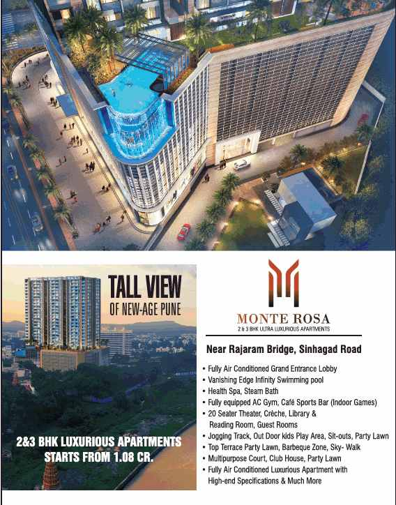 Enjoy The Tall View Of New Age Pune By Residing At Bkp Monte Rosa In Pune
