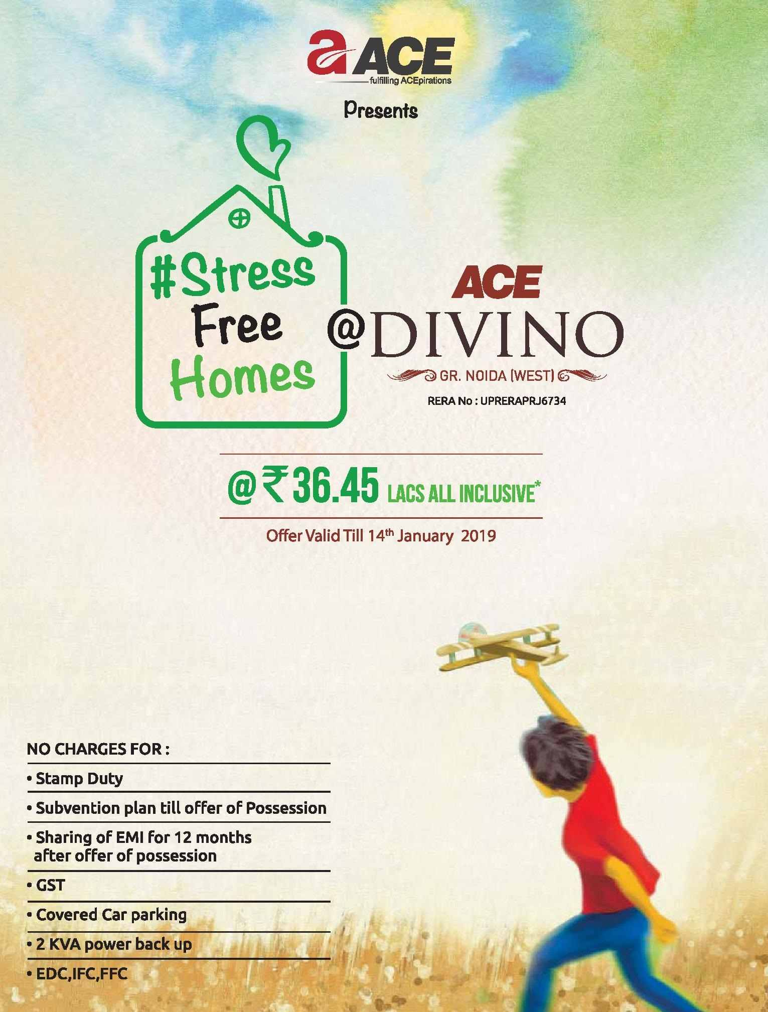 Book home Rs 36 45 Lacs at Ace Divino in Noida