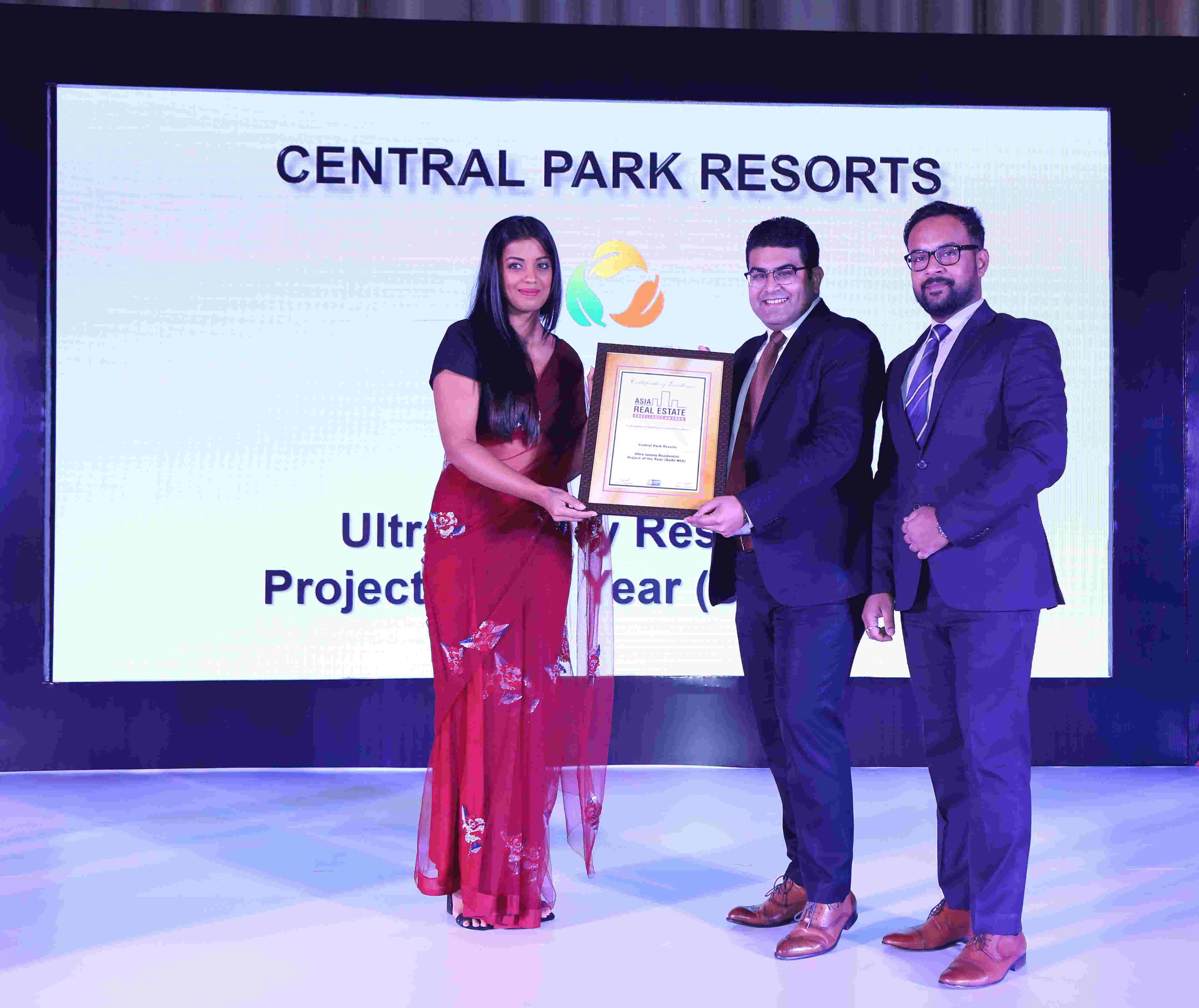 Central Park Resorts honoured with two awards in Ultra Luxury Category