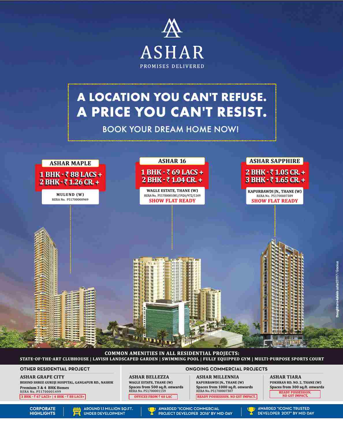 Invest in Ashar Properties in location you can t refuse price you can t resist in Mumbai