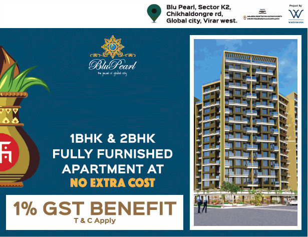 SB Blu Pearl presents 1 2 bhk fully furnished apartments at no extra cost in Mumbai