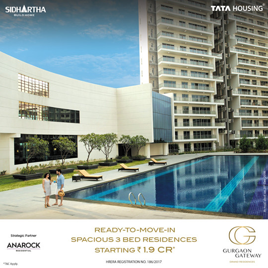 TATA Gurgaon Gateway 3 BHK ready to move in homes at Rs 1 9 cr in Gurgaon