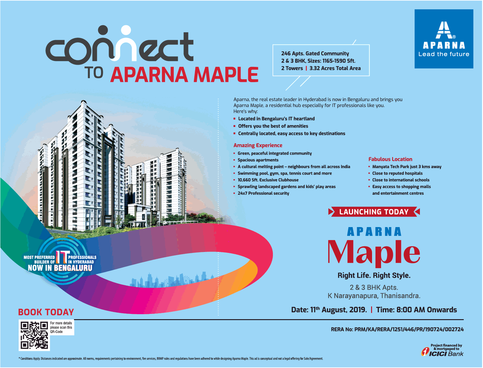 Launching today now at Aparna Maple in Bangalore
