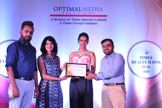 Rohan Abhilasha won Best MID Segment Homes award at Times Realty Icons 2018