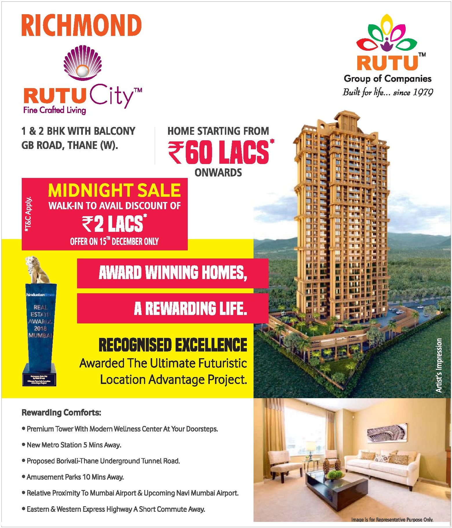 Walk in to avail discount of Rs 2 lakhs at Rutu City Richmond in Mumbai