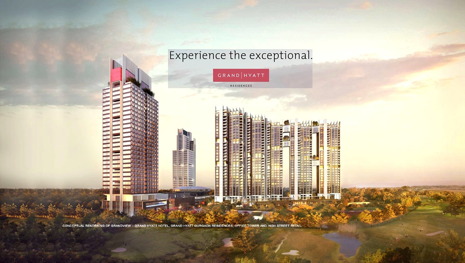 Ireo Grand Hyatt Residences Ultra Luxury Apartments at Golf Course Extension Road in Gurugram