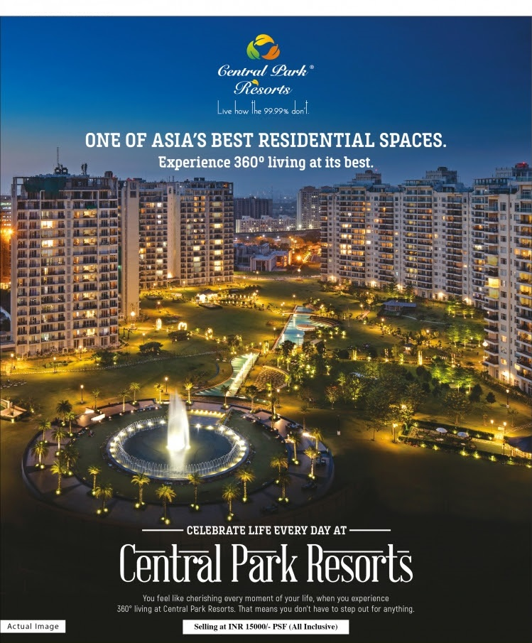bf386a761e6b Experience 360 degree living in one of Asia s best residential spaces at  Central Park Resorts
