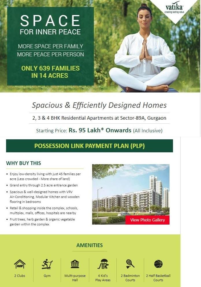 Vatika Seven Elements 2, 3 & 4 BHK Apartments at Sec - 89A, Gurgaon
