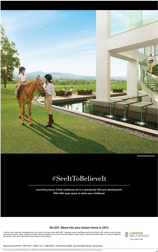 See it to believe it at Lodha Belmondo in Pune
