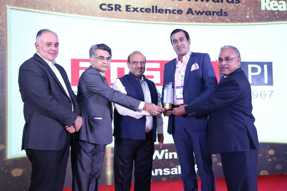 Pranav Ansal Ansal API awarded CSR Excellence Award at the 9th Realty Plus Excellence Awards