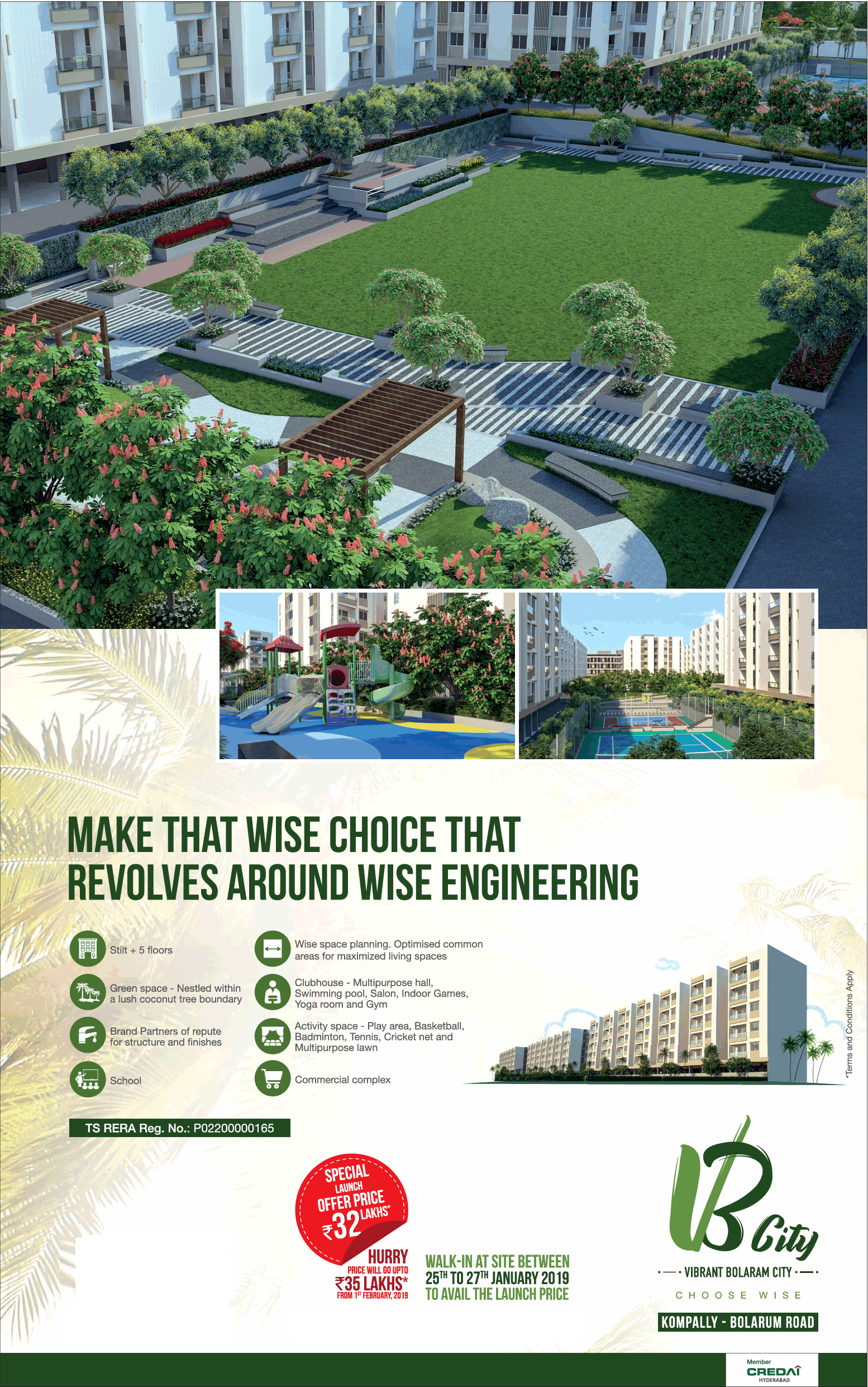 Invest in commercial space at Incor VB City in Hyderabad