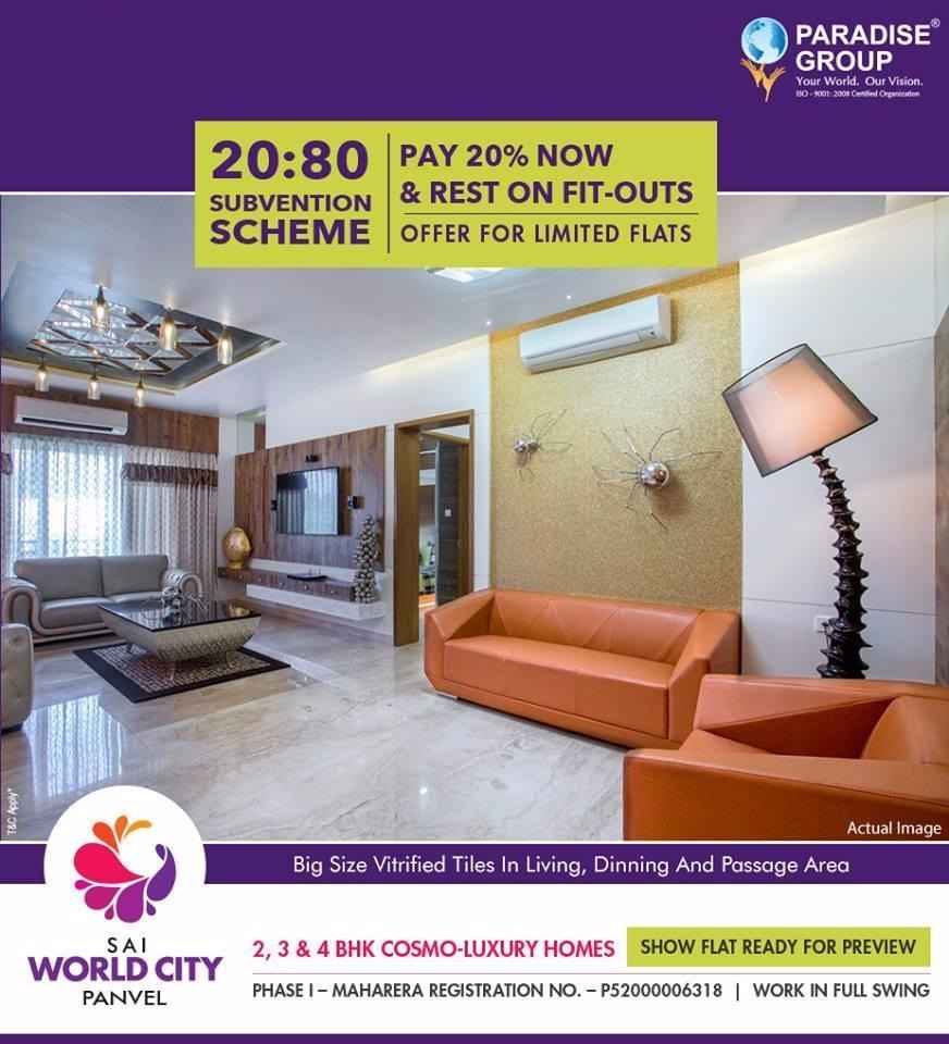 Show flat ready for preview at Paradise Sai World City in Navi