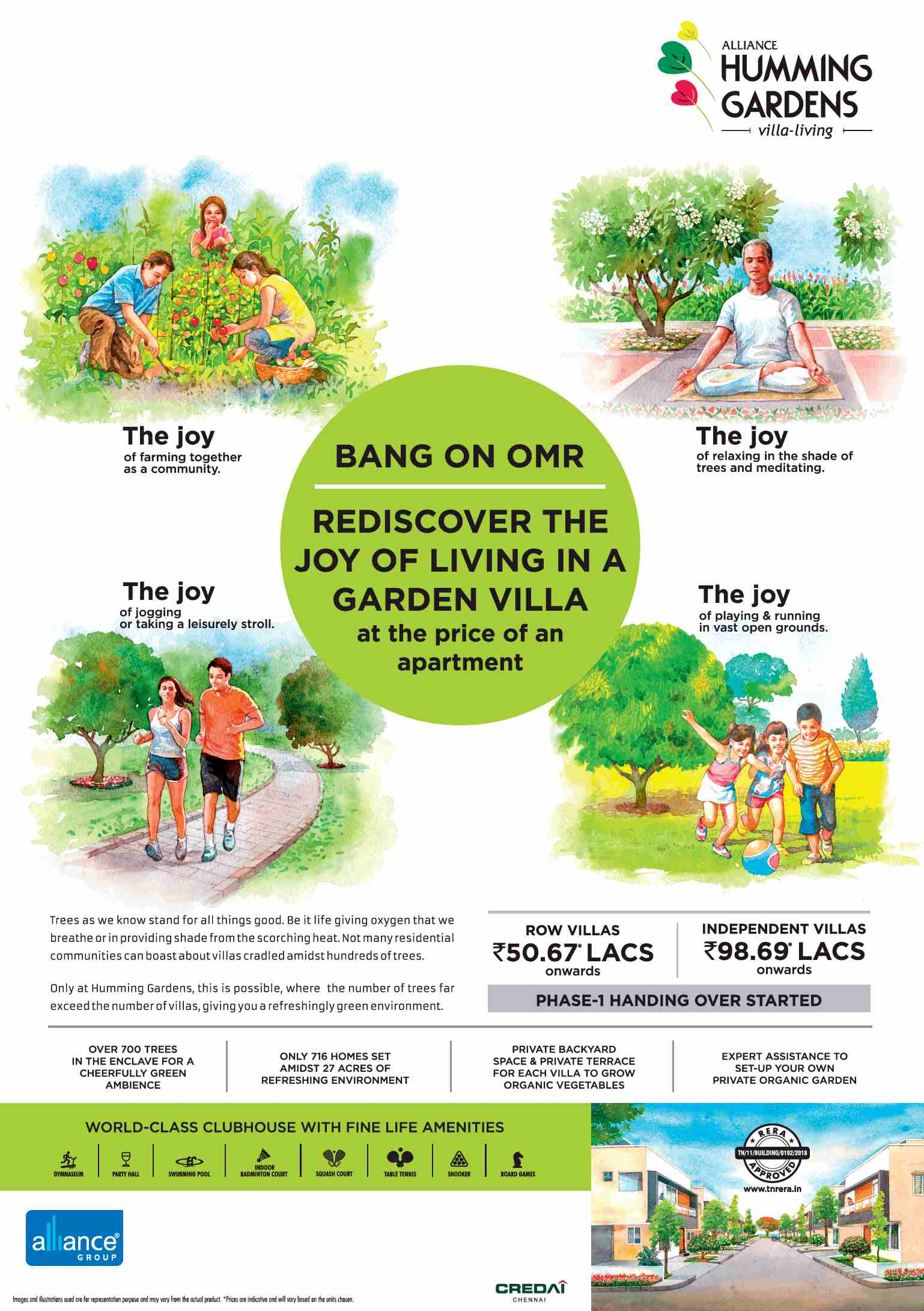 Rediscover the joy of living in a garden villa at Alliance