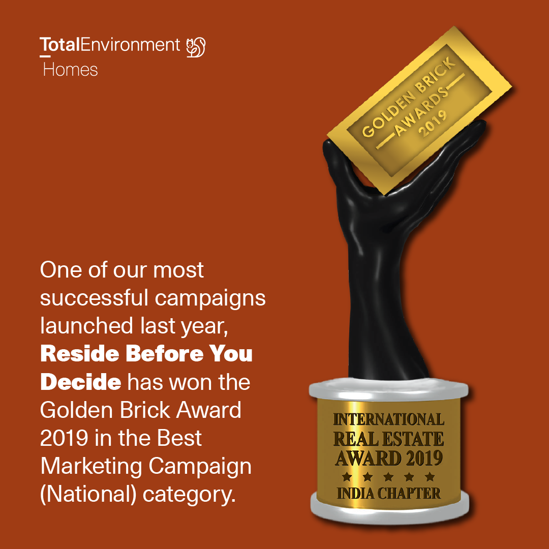 Total Environment Home Win Golden Brick Award 2019