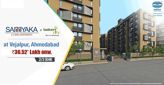 Book 2 and 3 BHK home starting Rs 36 52 lac at Bakeri Samyaka in Ahmedabad