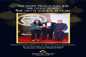 Central Park Resorts wins 'Luxury Project of the Year' Award at Realty Plus Conclave