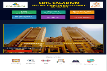 Avail 4 bhk size @ 3055 sq.ft. at Solutrean Caladium in Gurgaon