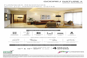 Presenting furnished residences with 270 degree panoramic vistas at Godrej Nature Plus in Sohna