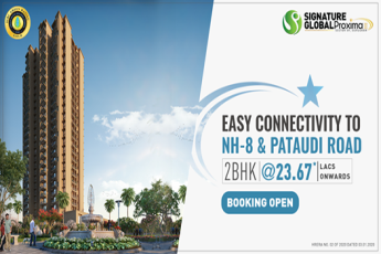 Easy connectivity to NH-8 & Pataudi Road at Signature Global Proxima