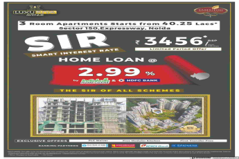 Book with home loan @ 2.99% at Samridhi Luxuria Avenue in Noida