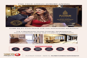 Offering Limited 30:70 Possession Payment Plan in Suncity Platinum Towers, Gurgaon