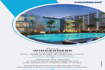 Live a lifestyle that is International in terms of size & amenities at Purva Windermere in Chennai
