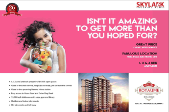 Book homes starting @ Rs. 26.44 Lacs at Skylark Royaume in Bangalore