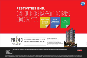 Book home paying just 1% with no EMI & interest till possession at Ceear Primo in Mumbai