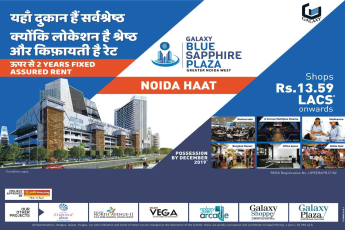 Get 2 years fixed assured rent at Galaxy Blue Sapphire Plaza in Noida Extension, Noida