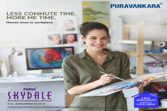 Enjoy a convenient lifestyle living close to your workplace at Purva Skydale, Bangalore
