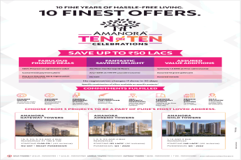 Save up to Rs 50 lakh at Amanora Park Town in Pune