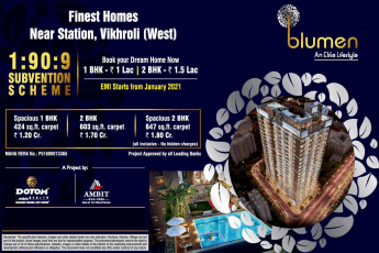 Book your dream home now at Dotom Blumen in Mumbai