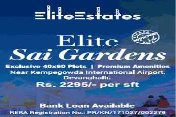 Bank loan available on Elite Sai Gardens, Devanahalli Bangalore