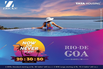 Hurry up ! 2 BHKs Starting only at Rs. 80 Lakhs* at Tata Rio De, Goa